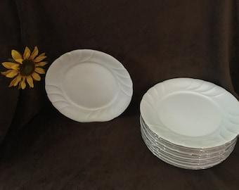 Mikasa Fine China Wedding Band Platinum Dinner Plate Set