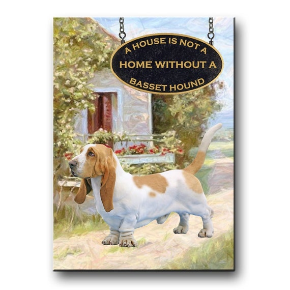 Basset Hound a House is Not a Home Fridge Magnet No 1