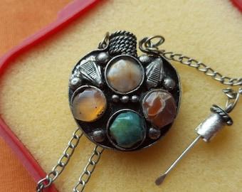 Antique perfume bottle necklace