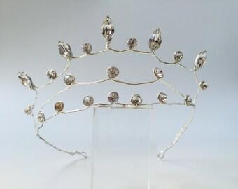 Elegant silver and Austrian crystal tiara
