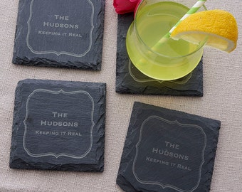 Personalized Slate Coasters - 3250_F