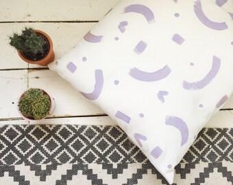 Lilac Print Cushion