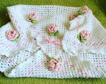 Baby Blanket (Hand Knitted)