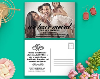 Moving Announcements Family Photo Template