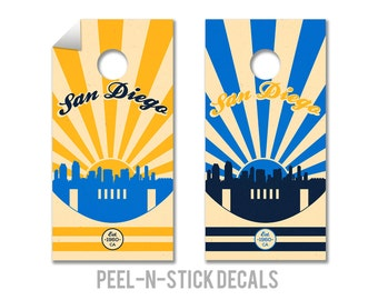 San Diego Chargers Cornhole Board Decals