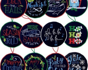 Chalkboard Inspired Christmas Ornaments