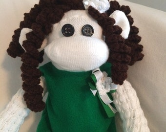 Aisling The Poodle Sock Monkey