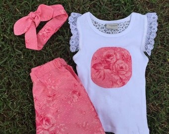 Girls pretty shorts set