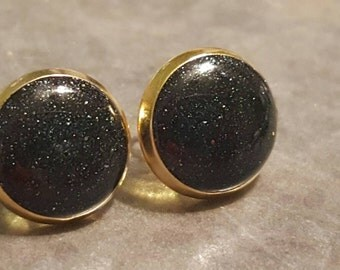 Black Shimmer Earrings