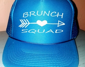 Brunch Squad Trucker Hat-2 Snapback Custom Trucker Wedding Hat Squad Hat Bachelorette party Hat Wedding Party Trucker Hat Bridal Party Hat