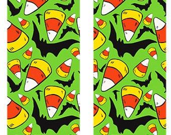 Halloween Bats and Candy Corn Socks