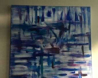 """48""""x48"""" Large Original Abstract Painting, Acrylic on Canvas art by Ali Johnson"""