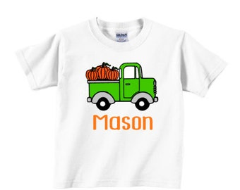 Old Truck with Pumpkins for Fall - Boys - Infant/Toddler/Childs sizes available