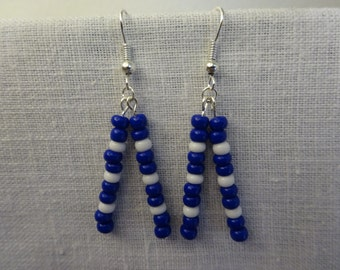 Indianapolis Colts Glass Bead Earrings