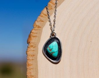 Sterling Silver Pendent with Turquoise