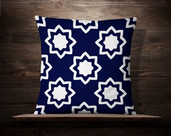 Blue and White Throw Pillow | Blue White Pillow | Blue and White Pillow | Blue and White Pillow Cover | Blue and White Decor | Blue Pattern