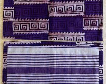 Purple Batik / Sparkle Woven Fabric Place Mat (Set of 6)
