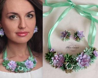 succulents jewellery, succulents necklace, wedding stuff, bride succulents, succulents earrings ,  succulents bracelet, succulents wedding