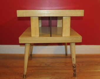 Mid Century Modern Retro End Table Bedside Table