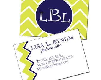 Personalized Printable Business Cards, Printable Calling Cards, Custom Business Cards, Watercolor, Business Card Design