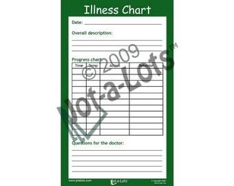 Jot-A-Lots  Illness Chart Notepad