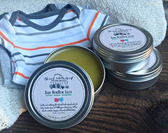 Baby Bum Bum Salve / All Natural & Organic / Lavender and Orange EO / Soothing and Relaxing / Newborn / Diaper Rash