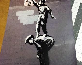 banksy graffiti is a crime