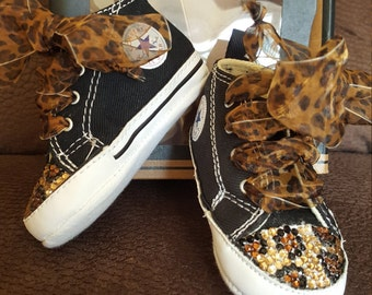 Cheetah studded converse