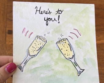 Here's To You Birthday Card