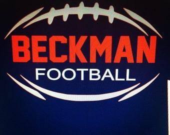Mens (non-glitter) Beckman Football Tee