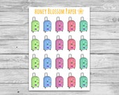 Suitcase Travel Planner Stickers