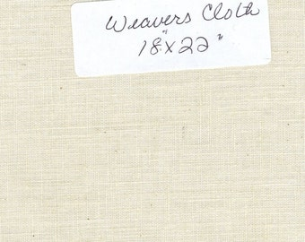 "Natural Color Weaver's Cloth Fat Quarter 18"" wide by 22"" long"