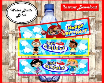 Little Einsteins Water Bottle Label, printable Little Einsteins party Water Bottle Label, Little Einsteins water