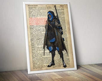 Ana Overwatch Poster Typography Dictionary Text Art Word Art 5x7 8x10 11x14 12x16