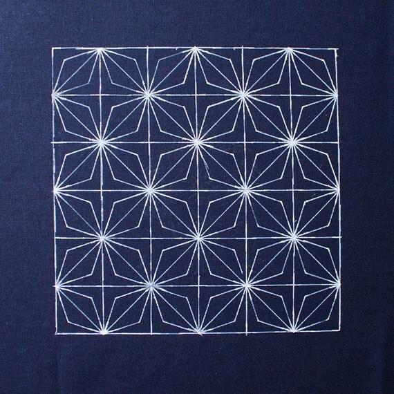 Sashiko Stencil By Acrylic Sashiko Embroidery Pattern