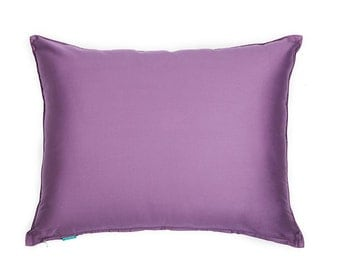 Solid Sateen Purple Sham Pillow Cover for Bed (Standard Queen, King, Cal King)
