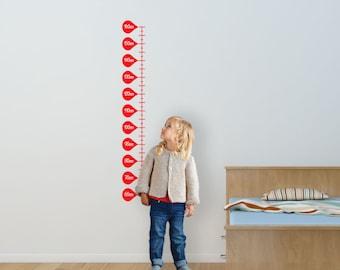 Kids Fun Height Chart Wall Art Decal