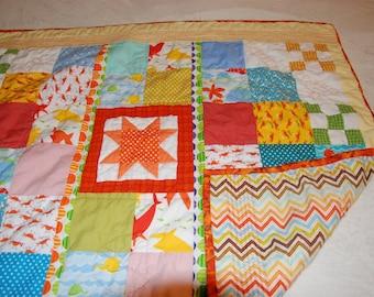 Handmade Sunshine baby quilt