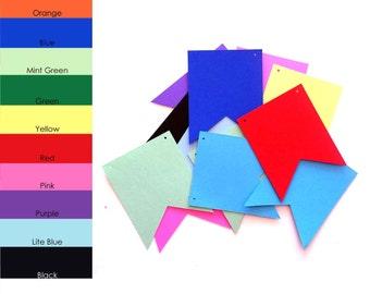 10 pack - Paper Banner Shape, Paper Banner Templates, Banner Paper, Banner Supplies