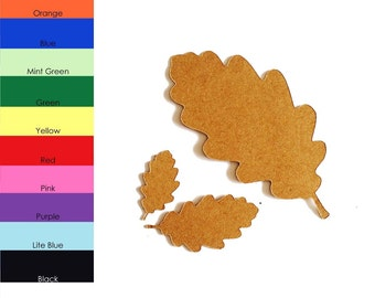25 pack - Paper Oak Leaf, Oak Leaf Shape, Leaf Shapes, Fall Leaves