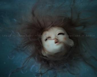 "Simple print A3 ""Aquaphobia"" - BJD doll collection, print deco No. Pullip phobia water art photography"