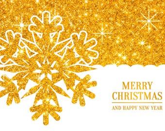 Postcard Christmas snowflake