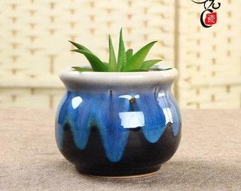 Handmade medium size indoor/outdoor Ceramic/Clay Succulent planter pot/Succulent Gift Ideas home decor, Cacti Habitat, urban garden