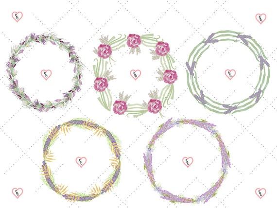 SALE! 70% OFF Watercolor Floral Wreaths ClipArt Set (10 Wreaths)