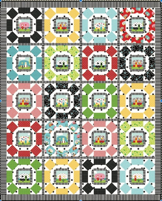 Round Em Up quilt pattern - Printed version
