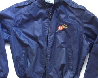 Vintage Members only Jacket 80's navy blue members only size XL x large