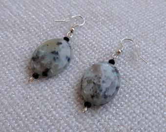 Leopard Stone - Short Dangling Earrings