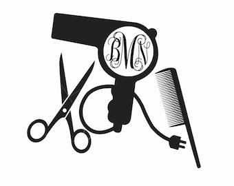 Decal - Monogram - Custom - Hairstylist - Car Decals - Yeti Decal