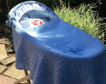Blue Lagoon - Baby Blanket for Basket or Cot,