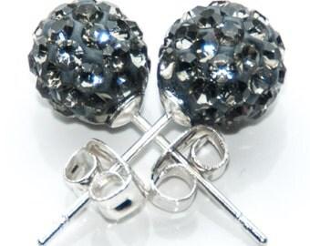 Black Ball Earrings Etsy